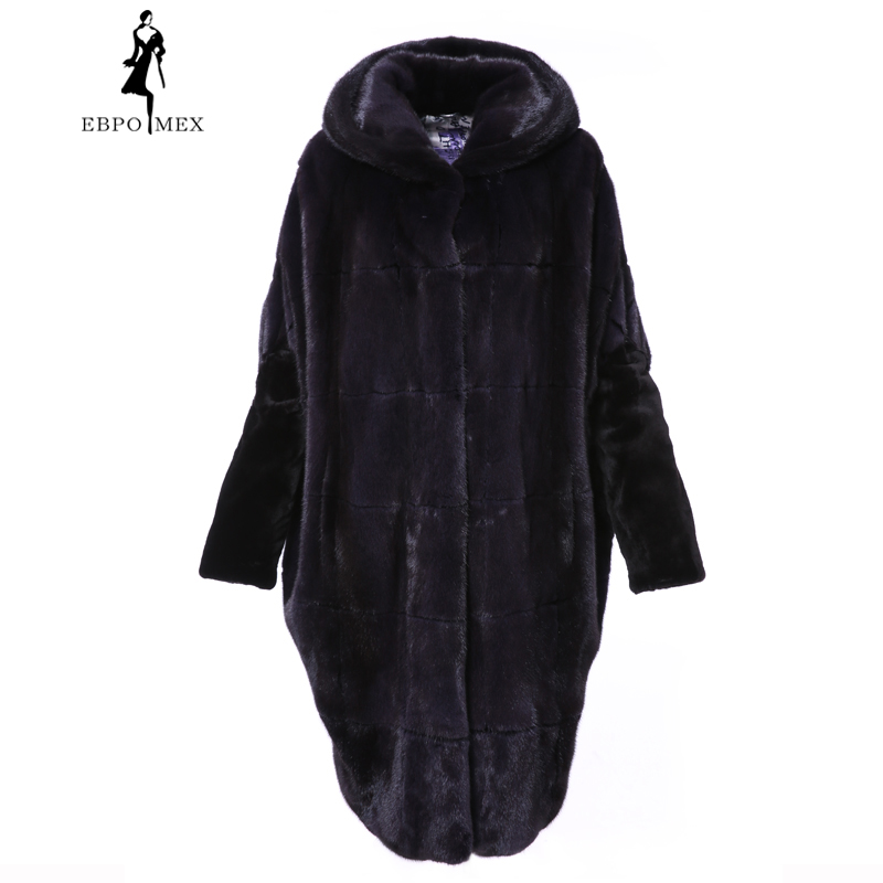 2018 New Arrival Real Mink Fur Coat Women's Regular Type With Hood Fur Coats For Female Slim High Quality Fur Jackets