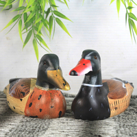 Antique Primitive Carved Over Painted Mallard Drake Duck Decoy Folk Art For Collection Or Home Decoration