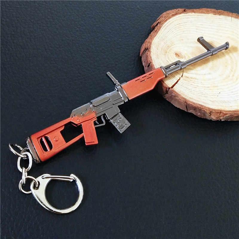 12 cm Festung Nacht Cosplay Schmuck SCARL AWM AKM Gun Modell Legierung Waffen Keychain 40 Designs Optionen