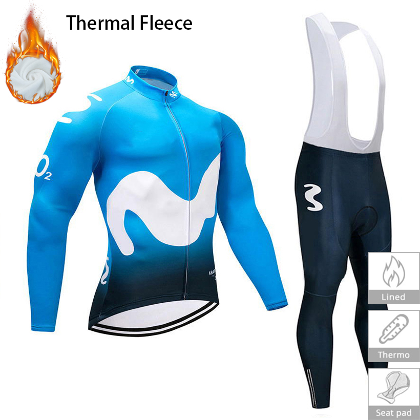 Cycling Clothing 2018 Men's Winter Thermal Fleece Cycling Jersey 9D Gel Pad Pants Set Ropa Ciclismo invierno Mtb Bike Clothes
