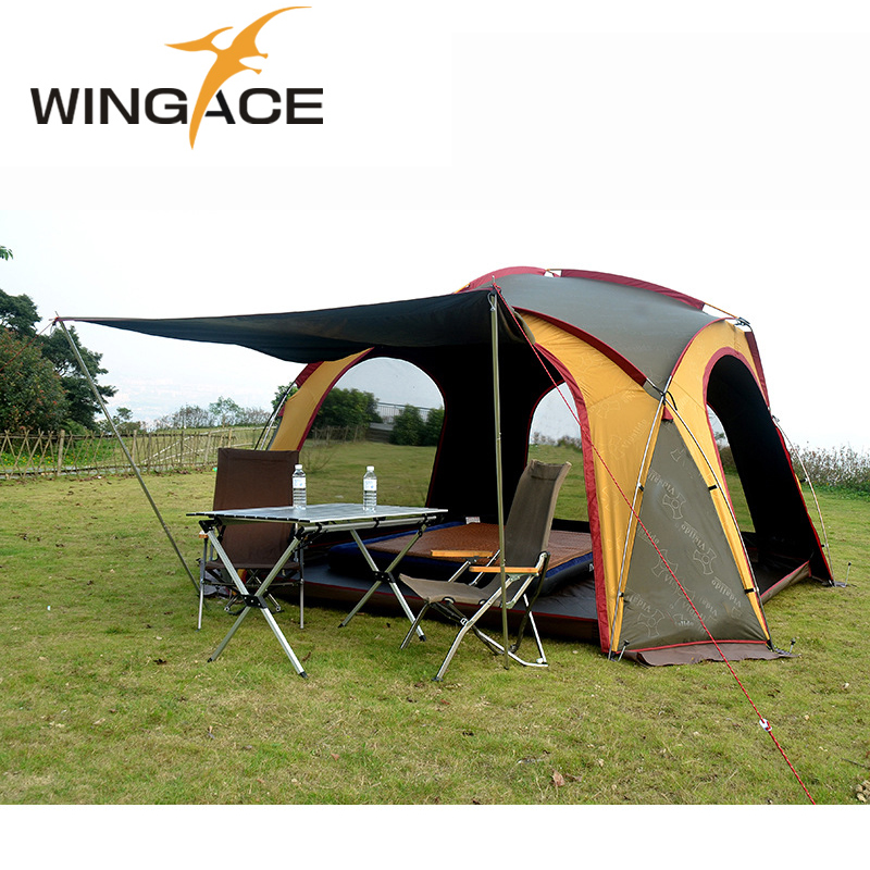 Large camping tent tents 8-10 person outdoor awning tent for outdoor recreation tourist Family Party tents