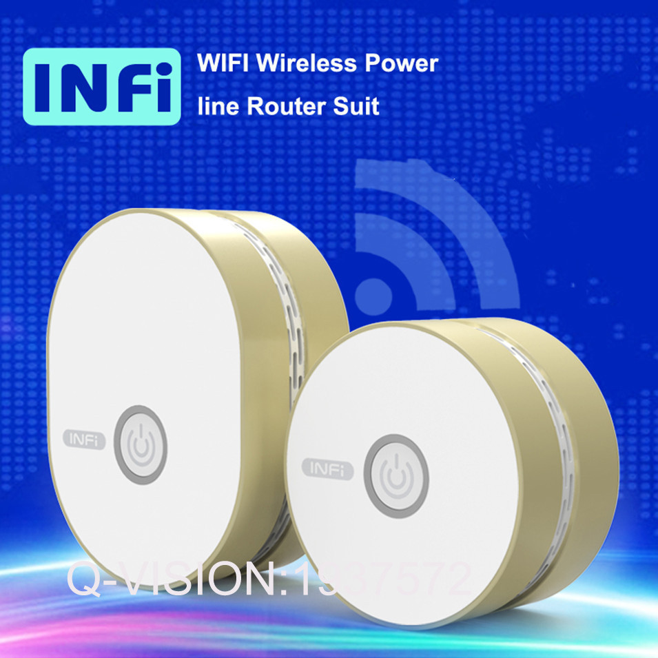 INFI Smart WIFI Wireless Router Powerline Carrier Wifi Signal Amplifier 200mbps 2.4G Plug & Play Wireless Transmit150 AC110-240V