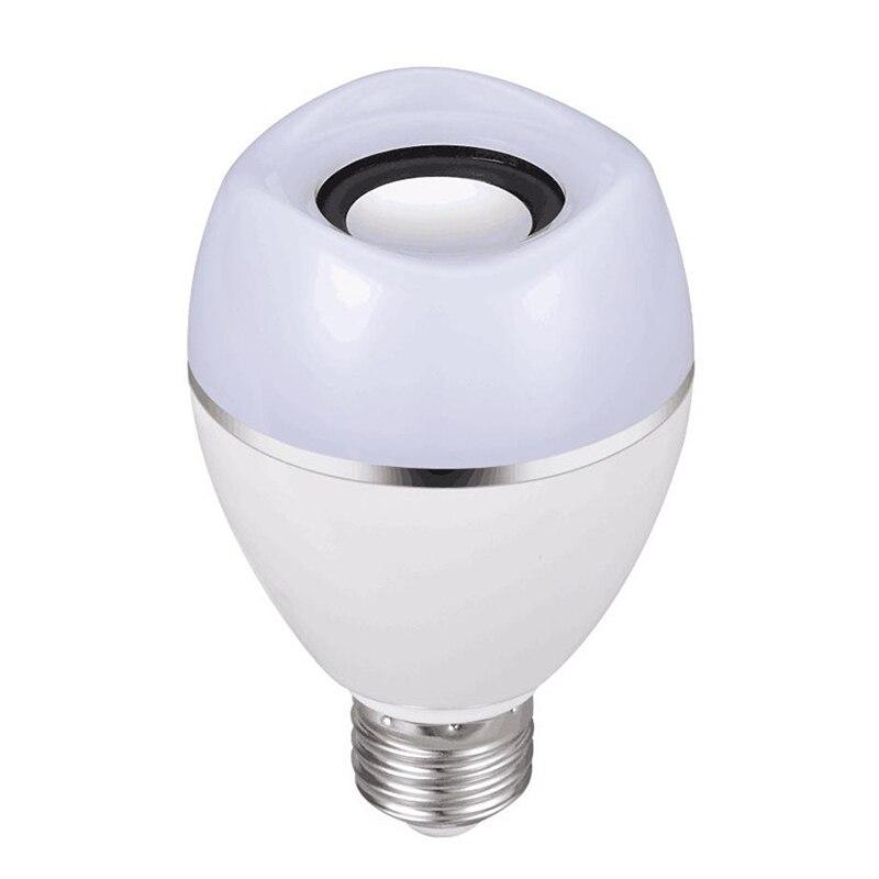 JLAPRIRA динамик Bluetooth лампы E27 светодиодный RGB свет Музыка лампа Изменение цвета через Wi Fi приложение управление плеер беспроводной 110 В 220 В - 2