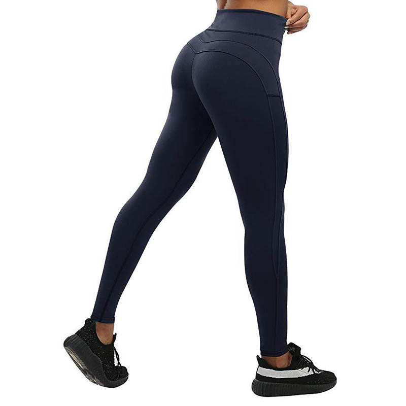 Oyoo Solid Booty Up Sports Legging Women's Compression Thigts M Line Butt Lift Workout Leggings Hip Push Up Stretch Yoga Pants Selected Material