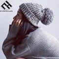 Moda Feminina Inverno Chapéu Para As Mulheres Skullies Gorros Algodão Quente Chapéu Feito Malha Chapéu Feminino Tampão Do Inverno Da Marca Mulheres Beanie Hat Atacado