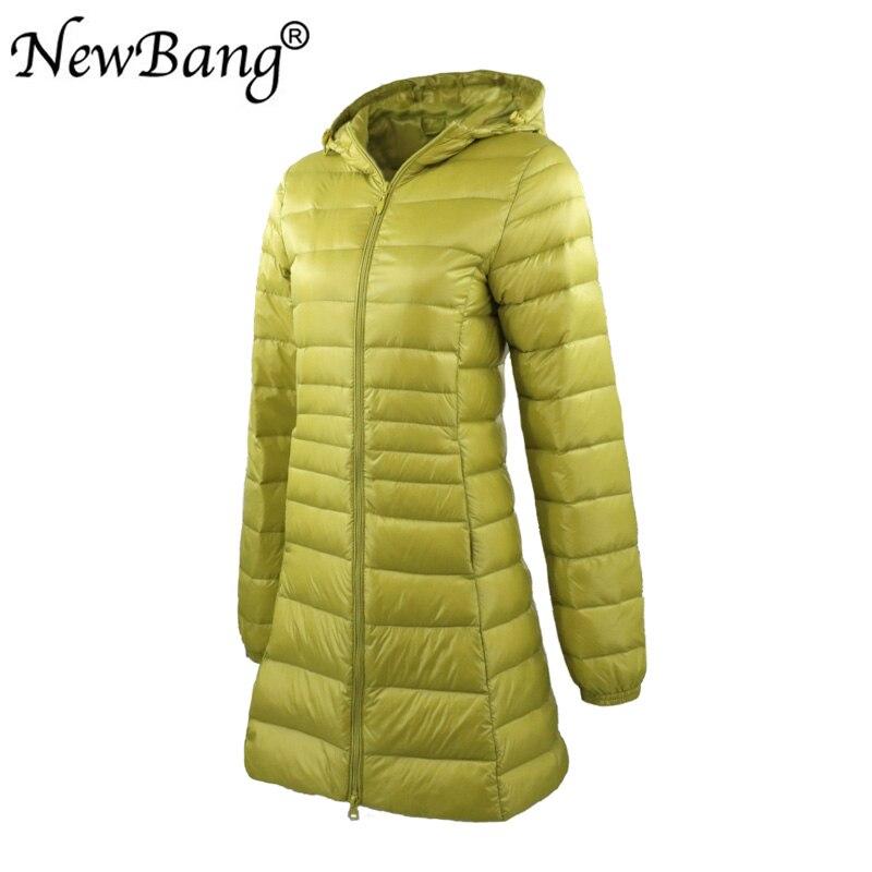 Image 2 - NewBang 8XL Ladies Long Warm Down Coat With Portable Storage Bag  Women Ultra Light Down Jacket Womens Overcoats Hip LengthDown Coats