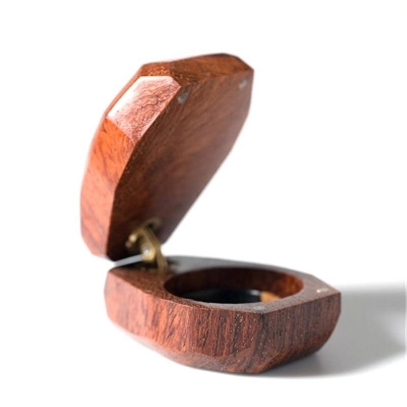 Nom personnalisé anneau en bois support de la boîte de mariage saint-valentin anneau porteur boîte cadeau de mariage personnalisé boîte à bijoux