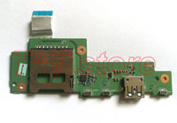 original R5 571 R5 571T R5 571TG Laptop USB Power Button Card Reader Board with cable P5HCJ IO BOARD test good free shipping