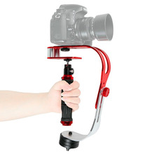 WRUMAVA mini handheld camera stabilizer video steadicam mobile DSLR 5d2 Motion DV steadycam smartphone clamp For Nikon Canon