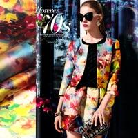 Fashion High Quality Eucken Wide Format Silk Formal Dress Fabric Hard