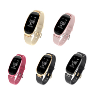 2018 New Women Smart Wristband S3 Heart Rate Monitoring Bluetooth 4 0 Sports Bracelet IP67 Waterproof