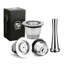 Капсула Nespresso reutilable Inox 2 в 1 использование Nespresso многоразовая капсула Crema Espresso многоразовая Nespresso