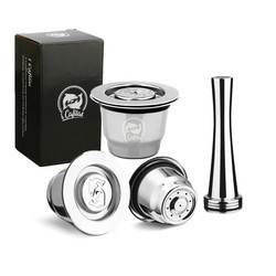 Kapsül Nespresso Reutilisable Inox 2 1 kullanım Nespresso doldurulabilir kapsül Crema Espresso yeniden doldurulabilir Nespresso