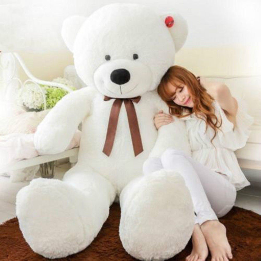 120cm Giant cute soft stuffed plush bear toy animal white teddy bear birthday gift минипечь gefest пгэ 120 пгэ 120