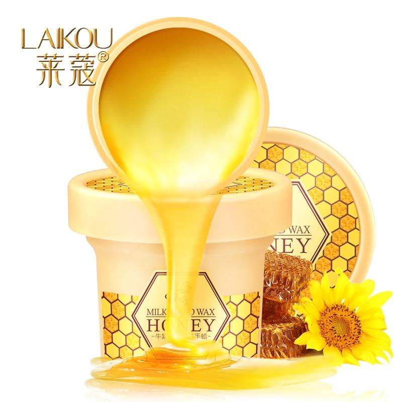 LAIKOU Milk Honey Paraffin Wax Hand Mask Hand Care Moisturizing Whitening Skin Care Exfoliating Calluses Hand Film Hand Cream цены онлайн