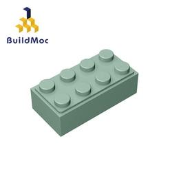 BuildMOC Compatible Assembles Particles 3001 2x4 For Building Blocks Parts DIY LOGO Educational Tech Parts Toys