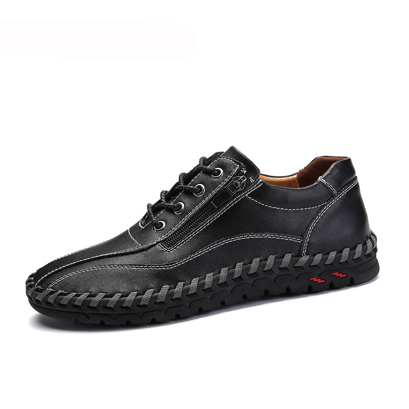 Genuine Leather Casual Men Shoes Italy Walking Sneakers Men Casual Shoe Lace  Mocassins Black Men Loafers Men Shoes 47 48 49 50-in Men's Casual Shoes from Shoes    1