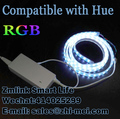 5 Meters RGB LED Strip Compatible with HUE Bridge 1.0 and 2.0 LED Controller Smart Lamp Remote Control by Hue APP Customized