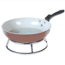 BF040 Kitchen stainless steel insulated pan round tube pots  fry pads storage rack kitchen helper