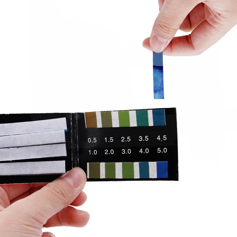 80 Strips Short-range PH Alkaline Acid 0.5-5.0 Indicator Litmus Paper Ph Test Strips   30%off
