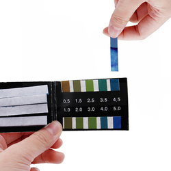 80 Strips short-range PH Alkaline Acid 0.5-5.0 indicator litmus paper ph test strips   30%off