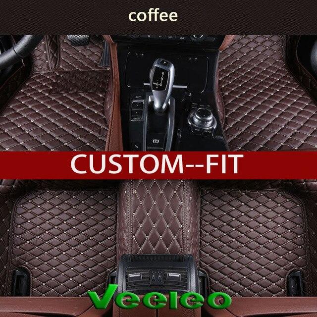 Veeleo 6 Colors Leather Auto Floor Mats For Alfa Romeo Stelvio 2017