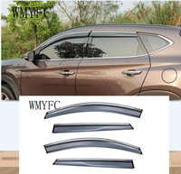 For Hyundai Tucson 2015 2016 2017 2018 car body styling cover Stick lamp plastic Window glass Wind Visor Rain/Sun Guard Vent