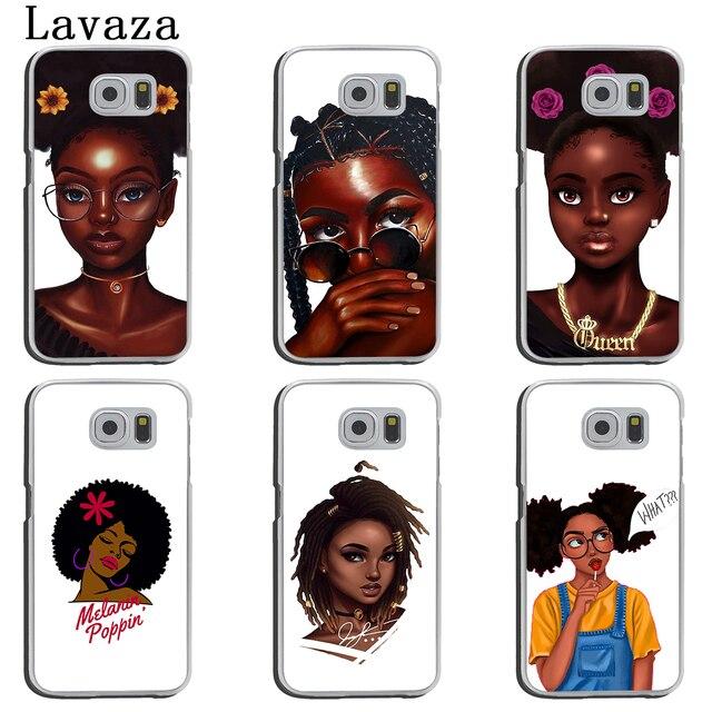 NAIROBI Coque de téléphone Beauté Africaine Afro Puffs Noir Fille Dur Téléphone Shell Cas pour Samsung Galaxy S8 Plus S9 Plus S3 S4 s5 S6 S7 Bord Couverture 2