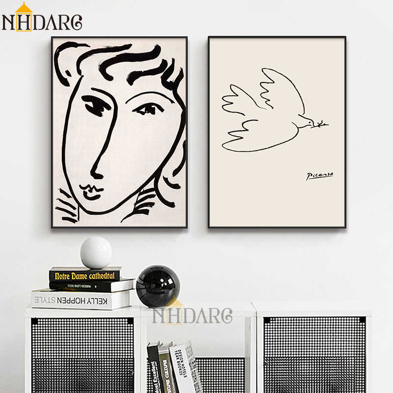 Matisse Picasso Sketch Collection Vintage Vogue Fashion Posters And Prints Canvas Painting Art Wall Pictures for Home Decoration