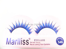 extended and roll become warped eyelashe With Blue powder NO.546 SOFT NATURE LONG BLACK MAKEUP All handmade non-toxic material