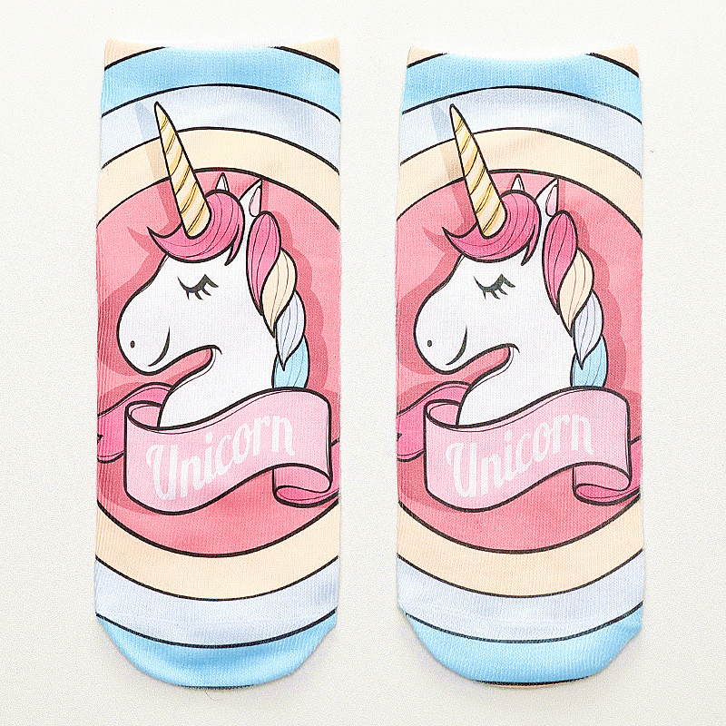 2020 New Funny 3d Print Socks Cute 3D