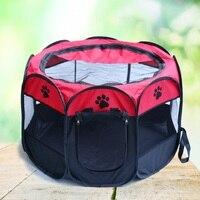 2017 Adorável Folding Tenda Pet Casa de Cachorro Gaiola Do Cão Gato cama Tenda Cercadinho Cachorro Canil Pet Ninho Octagonal Cerca Ao Ar Livre suprimentos