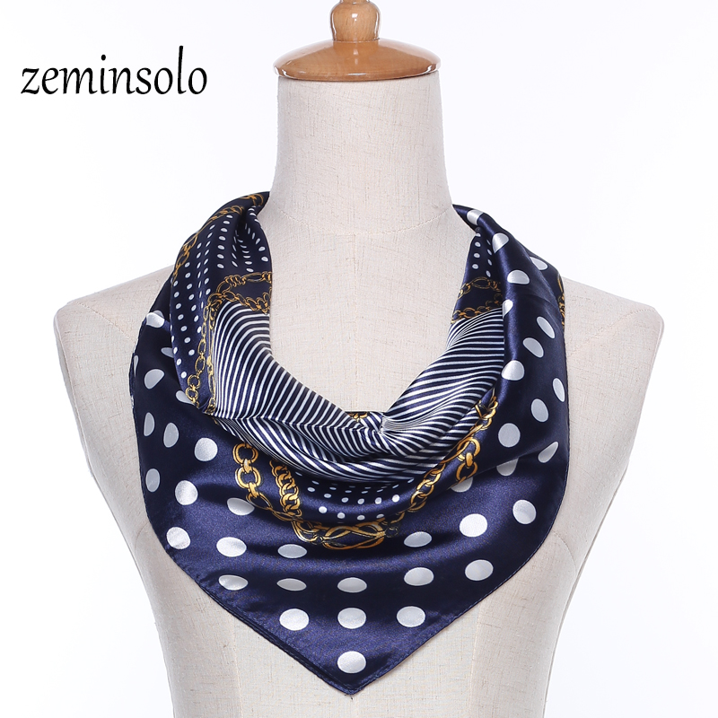 New Fashion Silk Scarf For Women Wrap 60*60cm Square Scarves Women Wraps Plaid Bandana Chiffon Printed Shawl Hijab Wraps Stole