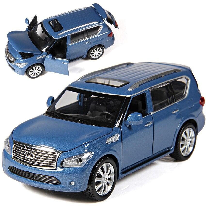 Caipo 1:32 qx56 suv vehículos de juguete modelo de aleación tire hacia atrás los