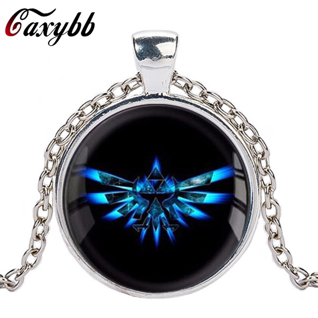 Caxybb brand zelda triforce necklace legend of zelda pendant caxybb brand zelda triforce necklace legend of zelda pendant personality silver round dome necklace jewelry cn492 aloadofball Choice Image