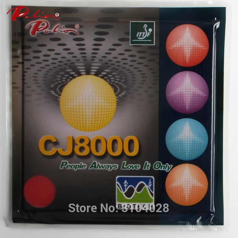 Palio Official Long Term CJ8000 40-42 Table Tennis Rubber BIOTECH Technilogy Fast Attack With Loop Sticky Table Tennis Racket