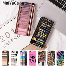 MaiYaca Naked Palette Fashion Glam Makeup Palette Phone Case for iphone 11 Pro 8 7 6 6S Plus 5S SE XR Coque(China)