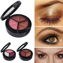 Professional Smoky Eyeshadow Makeup Set 3 Colors Natural Matte Eye Shadow Palette Nude Glitter