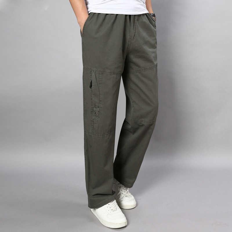 الرجال حجم كبير sweatpants تمتد مستقيم السراويل الخريف زي الحيوانات البرية الترفيه الكاكي السراويل كبيرة 5XL 7XL 8XL 9XL 10XL بو