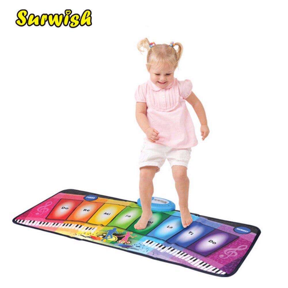 Batería de los niños de Piano musicales Mat música arrastrándose alfombra Niño de juguete de regalo-colorido