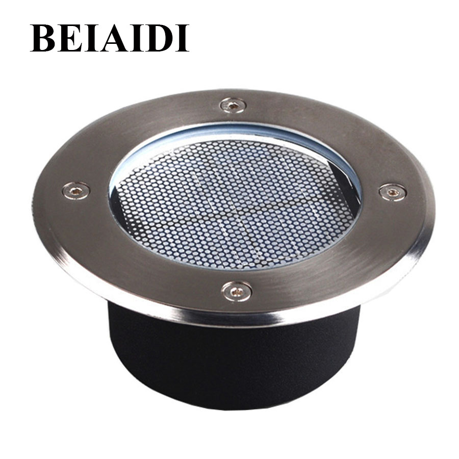 BEIAIDI Upgraded Solar Powered Ground Light Outdoor Garden Pathway underground Buried Lamps Yard Landscape Lawn Deck Light ip65 waterproof 8 led solar outdoor ground lamp landscape lawn yard stair underground buried night light home garden decoration