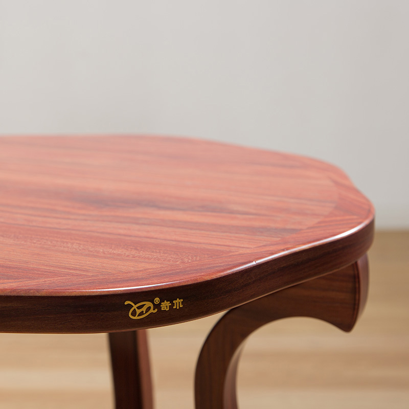 Round Retro Solid Wood Tea Table Antique Furniture Wooden