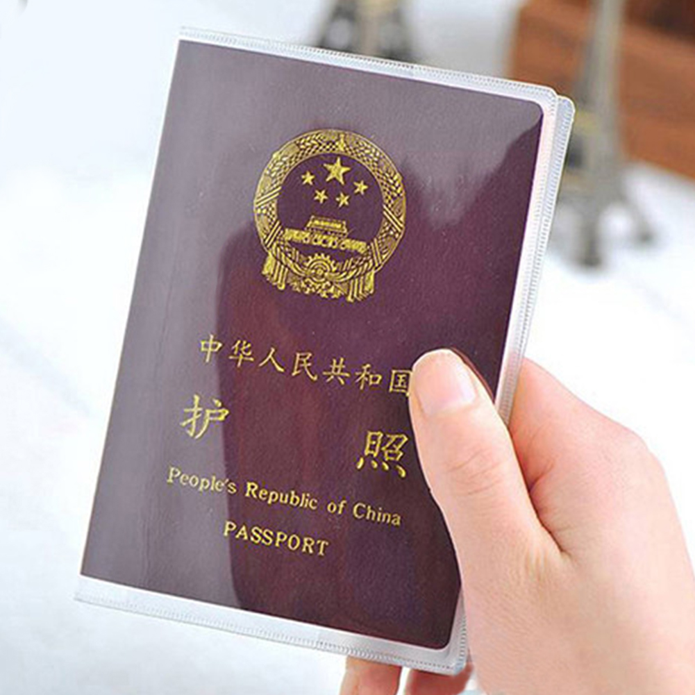 Passport Cover Water-Prove Plastic Passport Protector DULL POLISH Or Transparent
