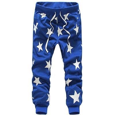 Повседневные штаны-шаровары с принтом; macacao moletom hombre calca masculino; Спортивный костюм; pantalone; мешковатая бандана; брюки с заниженным шаговым швом - Цвет: Blue