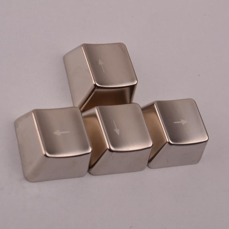 Silver Metal Keycaps Arrow/ Direction Keys/WASD/ASDF/QWER Keycaps For Cherry MX Switches Mechanical Keyboard Metal Keycaps
