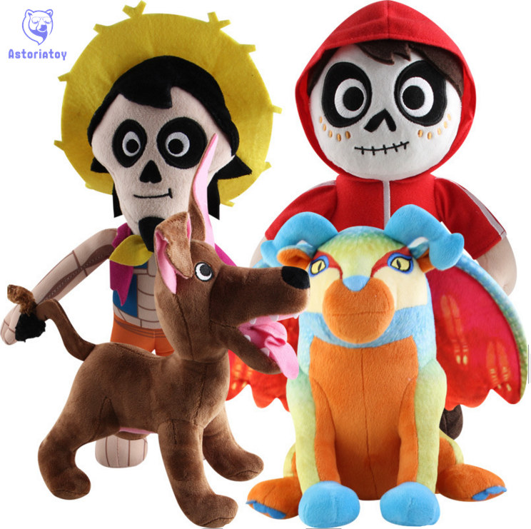 Us 8 35 5 Off Pixar Stuffed Toy 30 Cm Stuffed Skull Cartoon Coco Miguel Hector Dante Death Dog Plush Nugget Soft Toys Plush Doll For Children In