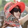 2017 Venta Caliente Chapeau Sombrero Del Cubo Del Verano Cubierta de La Cara Femenina de Prevenir La Radiación Ultravioleta Plegable Mejores Mujeres Al Aire Libre Sombrero para el Sol