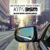 kitbsm BSM/BSD/BLIS/BSA/LCA 24GHZ microwave sensor blind spot mirror with power headted function Radar based Safety Systems