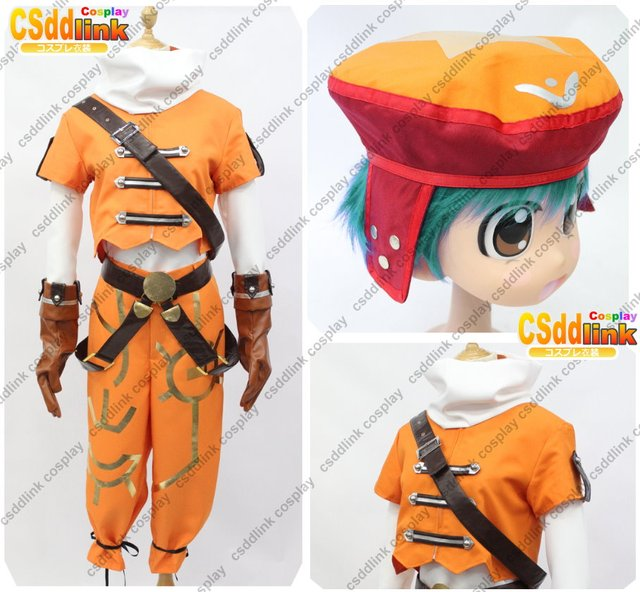 Hack Kite Cosplay Costume Orange With Hat In Mens Costumes From