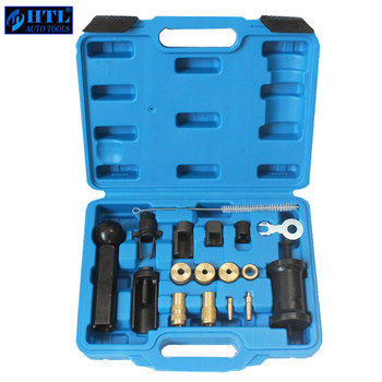 18 Piece FSI Injector Puller Set Injector Service Tool Kit for Audi Vw Engines Diesel 18pcs engine injector puller removal installer tool set for vag audi vw fsi petrol